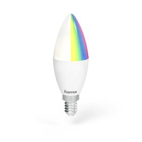 Hama SMART WiFi LED žárovka, E14, 4,5 W, RGB, stmívatelná