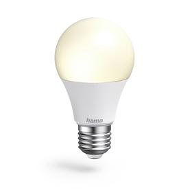 Hama WiFi LED žárovka, E27, 10 W, bílá teplá/studená, stmívatelná