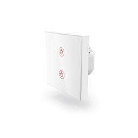 Hama WiFi dotykový nástìnný vypínaè, dvojitý, vestavný, bílý