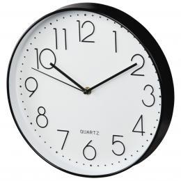 Hama Elegance nástìnné hodiny, prùmìr 30 cm, tichý chod, èerné/bílé