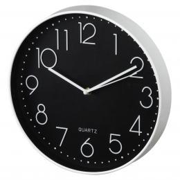 Hama Elegance nástìnné hodiny, prùmìr 30 cm, tichý chod, bílé/èerné