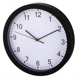Hama Pure nástìnné hodiny, prùmìr 25 cm, tichý chod, èerné