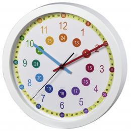 Hama Easy Learning dìtské nástìnné hodiny, prùmìr 30 cm, tichý chod