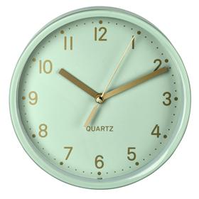 Hama Golden, stolní hodiny, tichý chod, mátovì zelené
