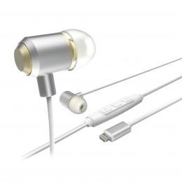 Hama sluchátka s mikrofonem HD Music pro Apple, silikonové špunty, hliníková
