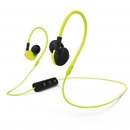 Hama Bluetooth clip-on sluchátka s mikrofonem Active BT, žlutá/èerná