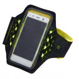 Hama Active sportovní pouzdro na rameno s LED, velikost L, èerné/žluté