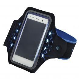 Hama Active sportovní pouzdro na rameno s LED, velikost XXL, èerné/modré