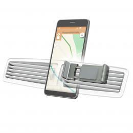 Hama Flipper, univerzální držák mobilu ve vozidle, pro šíøku 6-8 cm, hliníkový, šedý