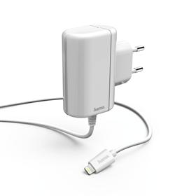 Hama nabíjeèka s kabelem, Apple Lightning, MFI, 2,4 A, bílá