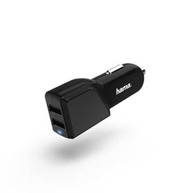 Hama dvojitá USB nabíjeèka do vozidla, 4,8 A