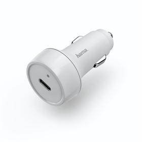 Hama rychlá USB nabíjeèka do vozidla, USB-C, Quick Charge 3.0 / Power Delivery, 18 W, bílá