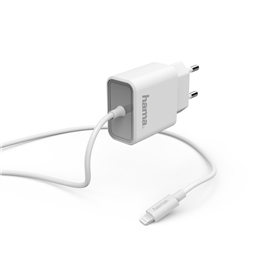 Hama rychlá nabíjeèka s kabelem, Apple Lightning, MFI, Power Delivery, 18 W