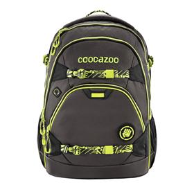 Školní batoh coocazoo ScaleRale TecCheck Neon, bederní popruh s integrovanou Powerbankou