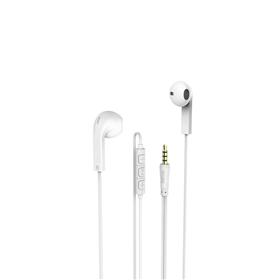 Hama sluchátka s mikrofonem Advance, pecky, bílá