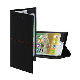 Hama Red Sensation No.6, otevírací pouzdro pro Apple iPhone 6/6s/7/8/SE 2020, èerné