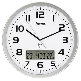 Hama Extra, nástìnné hodiny øízené rádiovým signálem, s datem a teplotou