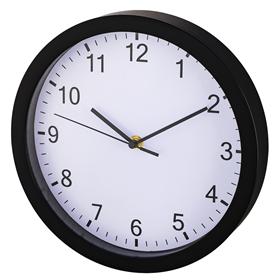 Hama Pure, nástìnné hodiny, prùmìr 25 cm, tichý chod, èerné
