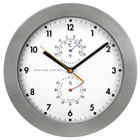Hama PG-300, nástìnné hodiny, øízené rádiovým signálem, s analogovým teplomìrem/vlhkomìrem