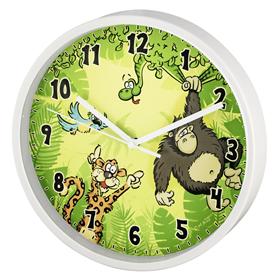 Hama Jungle dìtské nástìnné hodiny, prùmìr 22,5 cm, tichý chod