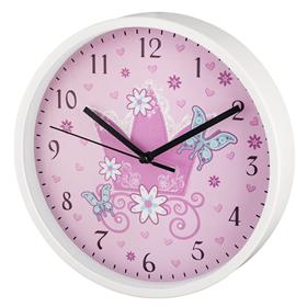 Hama Crown dìtské nástìnné hodiny, prùmìr 22,5 cm, tichý chod