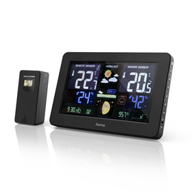 Hama Premium, meteostanice s barevným displejem a nabíjecí funkcí USB