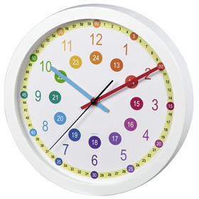 Hama Easy Learning, dìtské nástìnné hodiny, prùmìr 30 cm, tichý chod