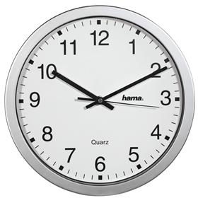 Hama CWA100, nástìnné hodiny, støíbrné