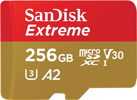 SanDisk microSDHC Extreme 256 GB