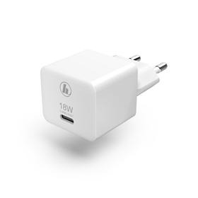 Hama rychlá USB nabíjeèka, USB-C, QC 3.0 / PD, 18 W, kompaktní, bílá