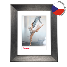 Hama rámeèek plastový PARIS, šedá, 15x21 cm