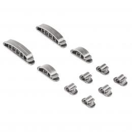 Hama cable Fastener Easy Clip, silver, 10 pieces