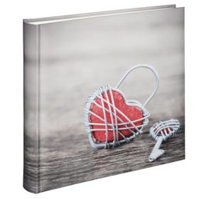 Hama album klasické RUSTICO 30x30 cm, 100 stran, Metal Heart