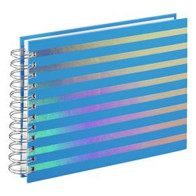 Hama album klasické spirálové FLASHY 24x17 cm, 50 stran, modrá, bílé listy - zvìtšit obrázek