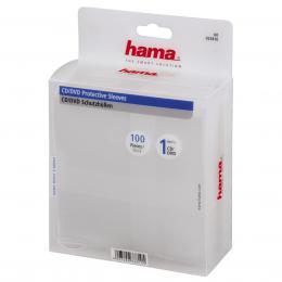 Hama ochranný obal pro CD/DVD, 100ks/bal, transparentní