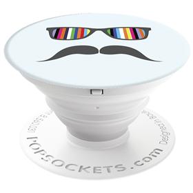 PopSockets Original PopGrip, Mustache Rainbow