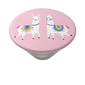 PopSockets PopTop Gen.2, Llamalliance in Pink, dvì lamy na rùžovém pozadí, výmìnný vršek