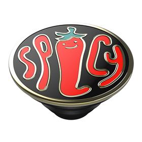 PopSockets PopTop Gen.2, Spicy Black Enamel, smalt kov, èili paprièky, výmìnný vršek