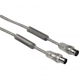 Hama anténní kabel 90dB, feritové filtry, 10m, bílá