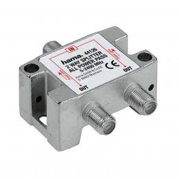 Hama SAT Distributor, 2 Way, Fully Shielded