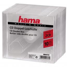 Hama CD obal Standard Double, 10 ks, prùhledný