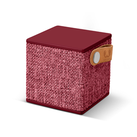 FRESH  N REBEL Rockbox Cube Fabriq Edition Bluetooth reproduktor, Ruby, rubínovì èervený