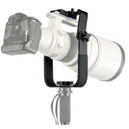 Manfrotto  393 Držák pro dlouhé teleobjektivy na stativy, 2 pog. ramena nastavitelné do 3 poloh