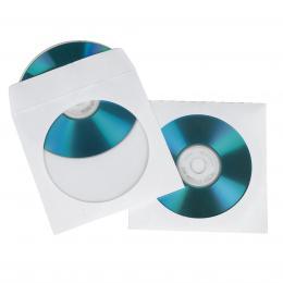 Hama ochranný obal pro CD/DVD, 100ks/bal, bílý, balení krabièka na zavìšení