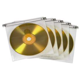 Hama CD/DVD Double Protective Sleeves,Pack of 50 Pcs., White
