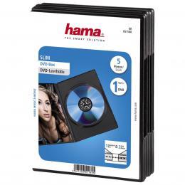 Hama DVD Slim Box 5, Black