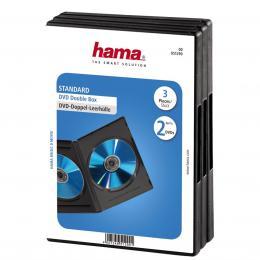 Hama DVD obal, double, 3ks/bal., barva èerná, možná náhrada 51294