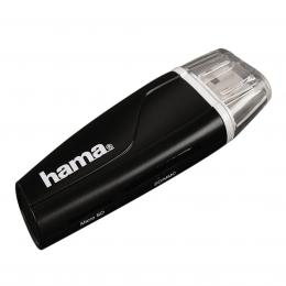 Hama �te�ka karet USB 2.0 SD/microSD, �ern�
