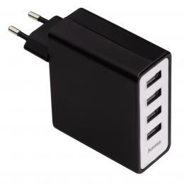 Hama s�ov� USB nab�je�ka, 4z�suvkov�, 5,1 A