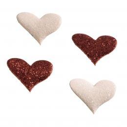 Hama Heart magnety, tøpytivé, 4 ks, èervený/rùžový